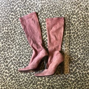 RARE ➡️ Rose 🌹 pink boots! Size 7!🙌